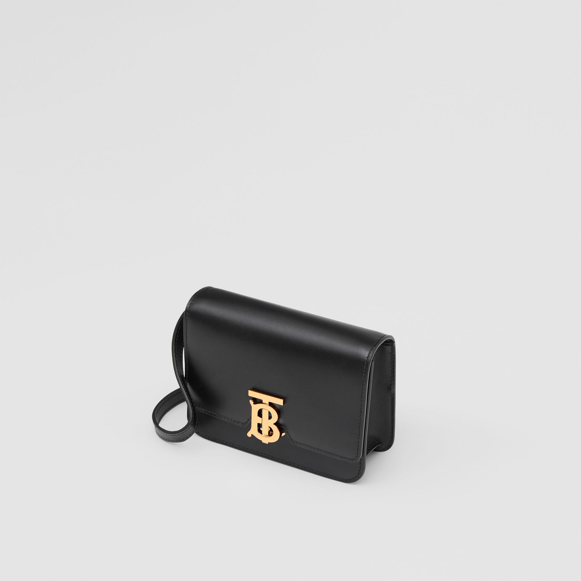 Mini Leather TB Bag in Black - Women | Burberry United Kingdom - gallery image 3