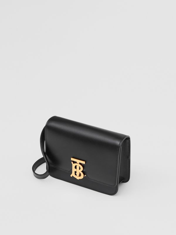Mini Leather TB Bag in Black - Women | Burberry United States - cell image 3