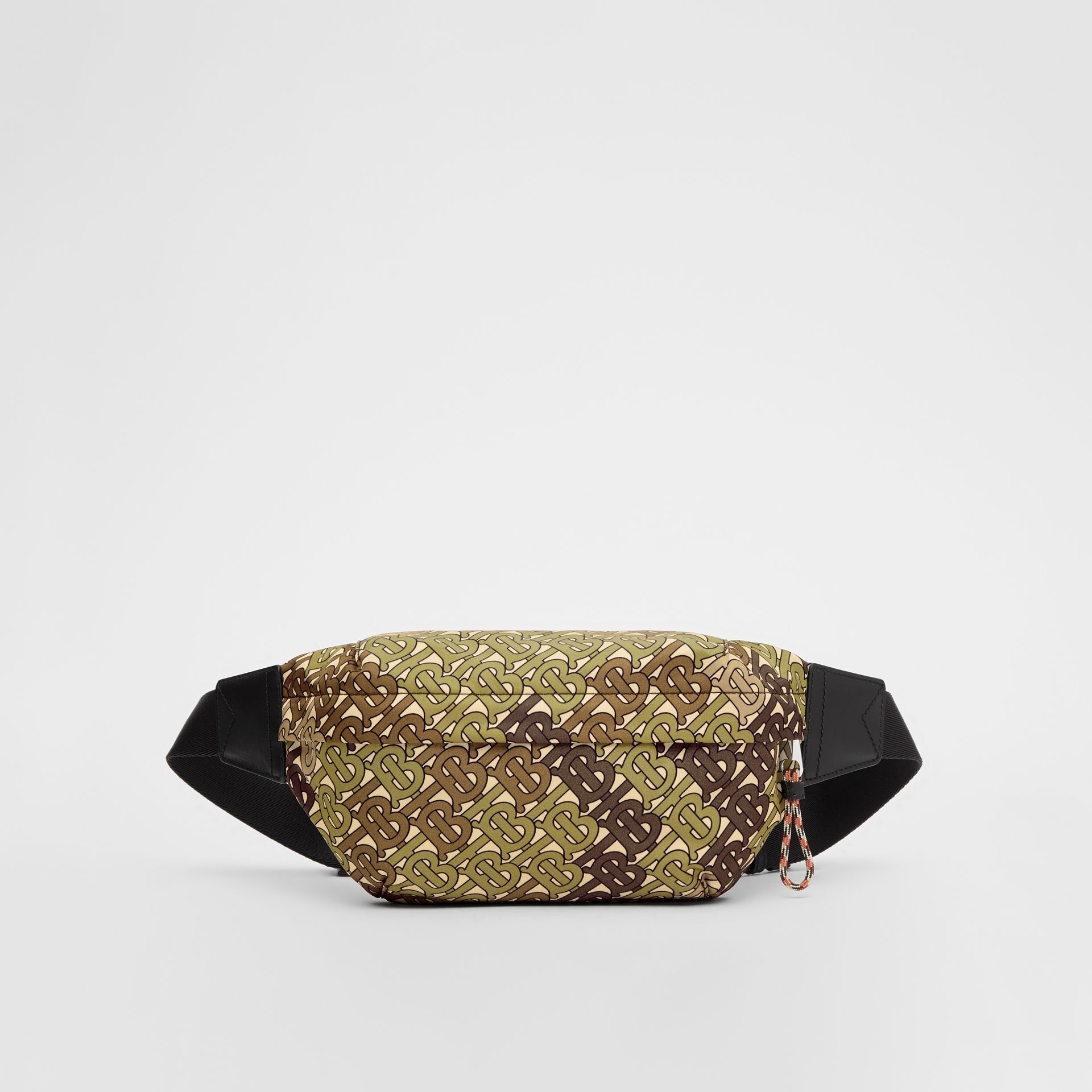 Medium Monogram Print Bum Bag in Khaki Green | Burberry - gallery image 0