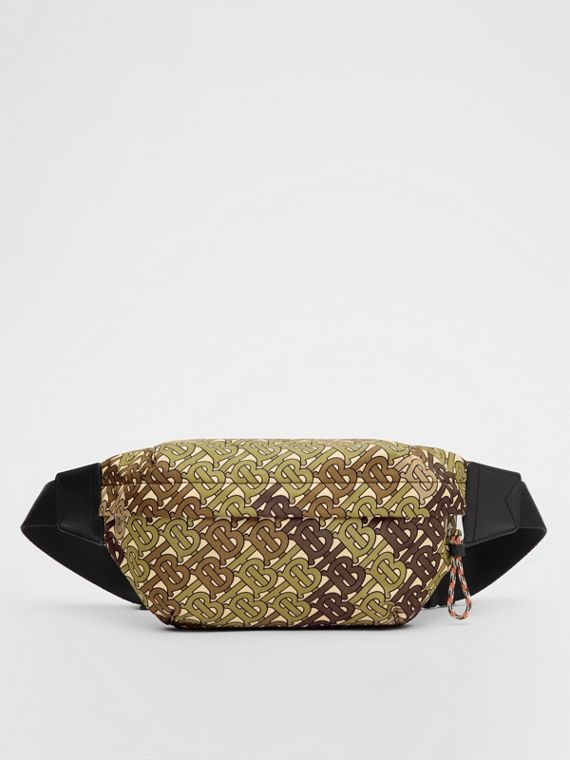 Medium Monogram Print Bum Bag in Khaki Green