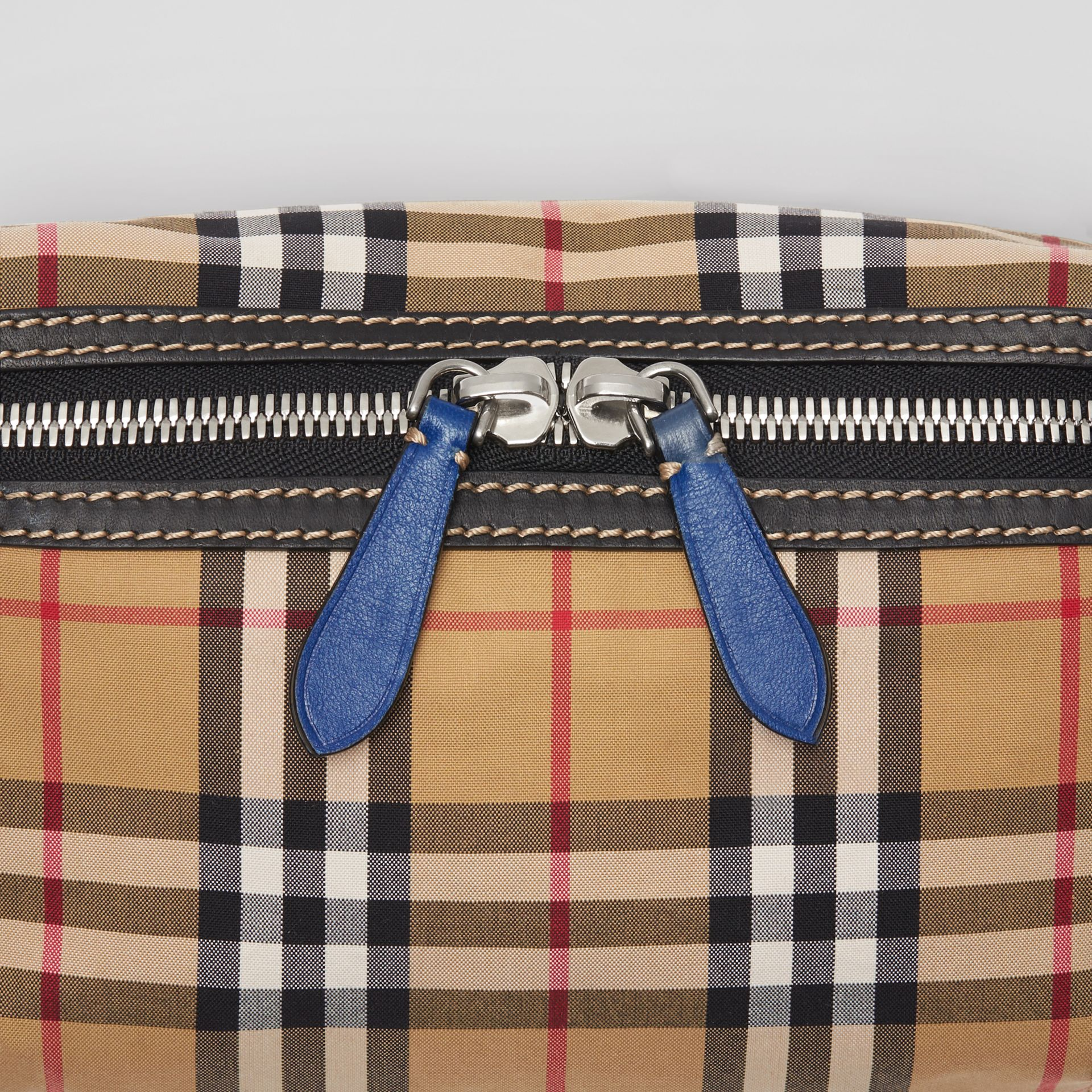 Medium Vintage Check Bum Bag in Canvas Blue - Men | Burberry Australia - gallery image 1