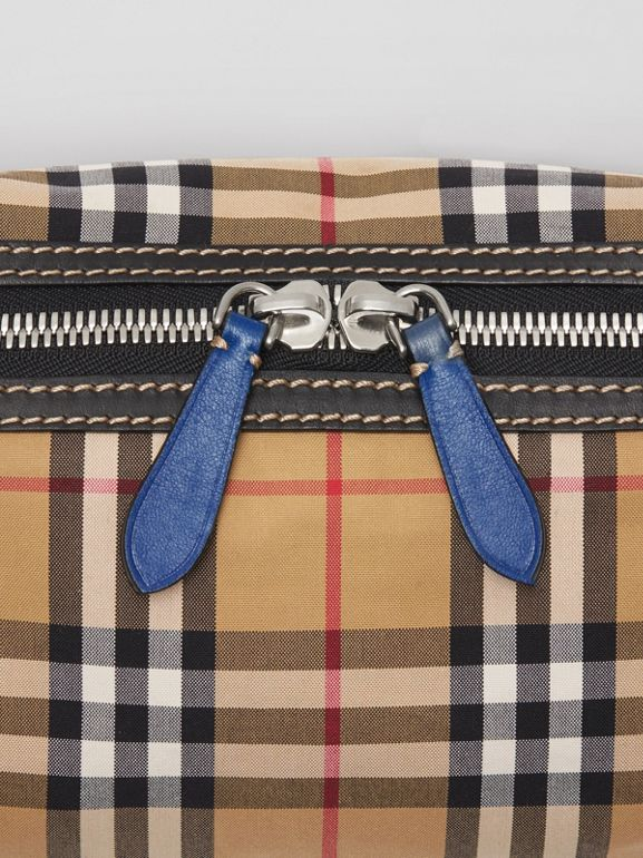 Medium Vintage Check Bum Bag in Canvas Blue - Men | Burberry Australia - cell image 1