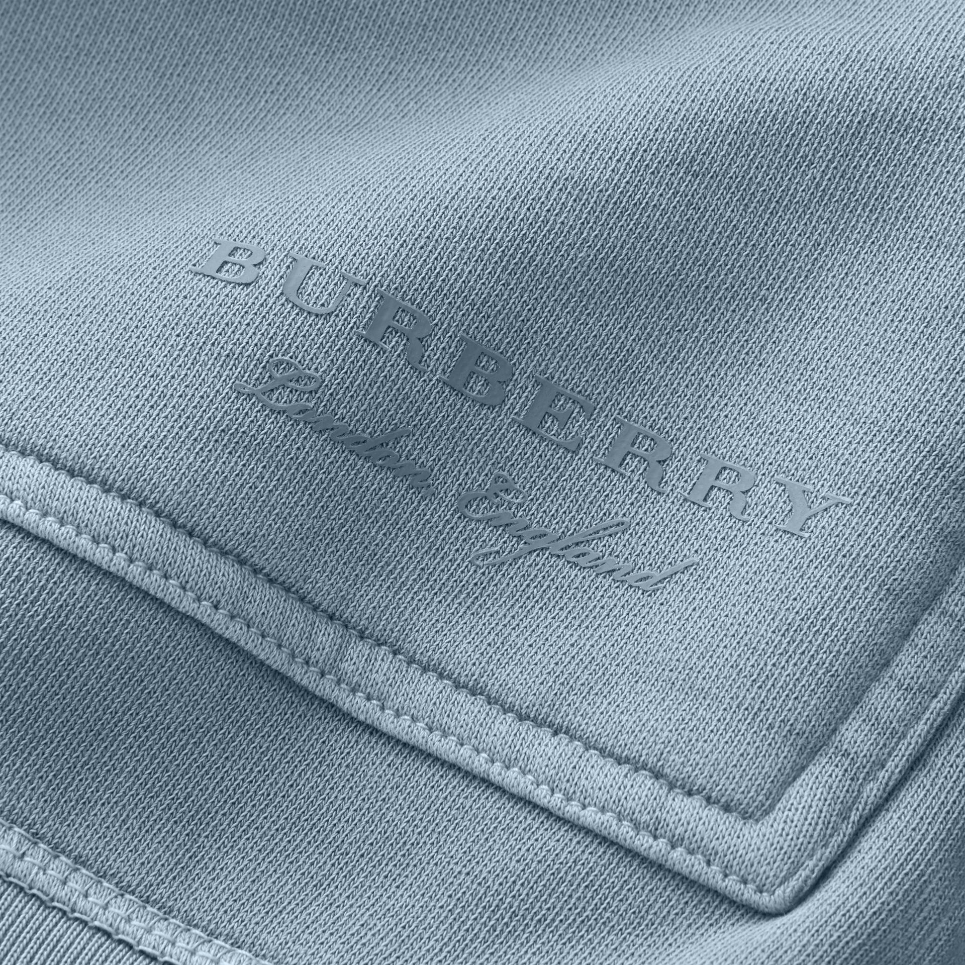 Unisex Pigment-dyed Cotton Oversize Sweatshirt in Dusty Blue - Men | Burberry Hong Kong - gallery image 2