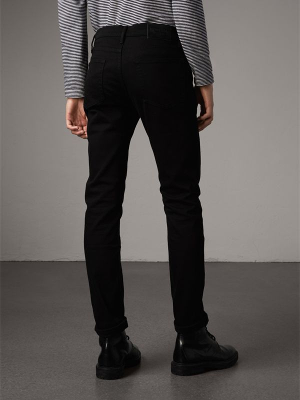 Slim Fit Stretch-denim Jeans in Black - Men | Burberry Hong Kong - cell image 2