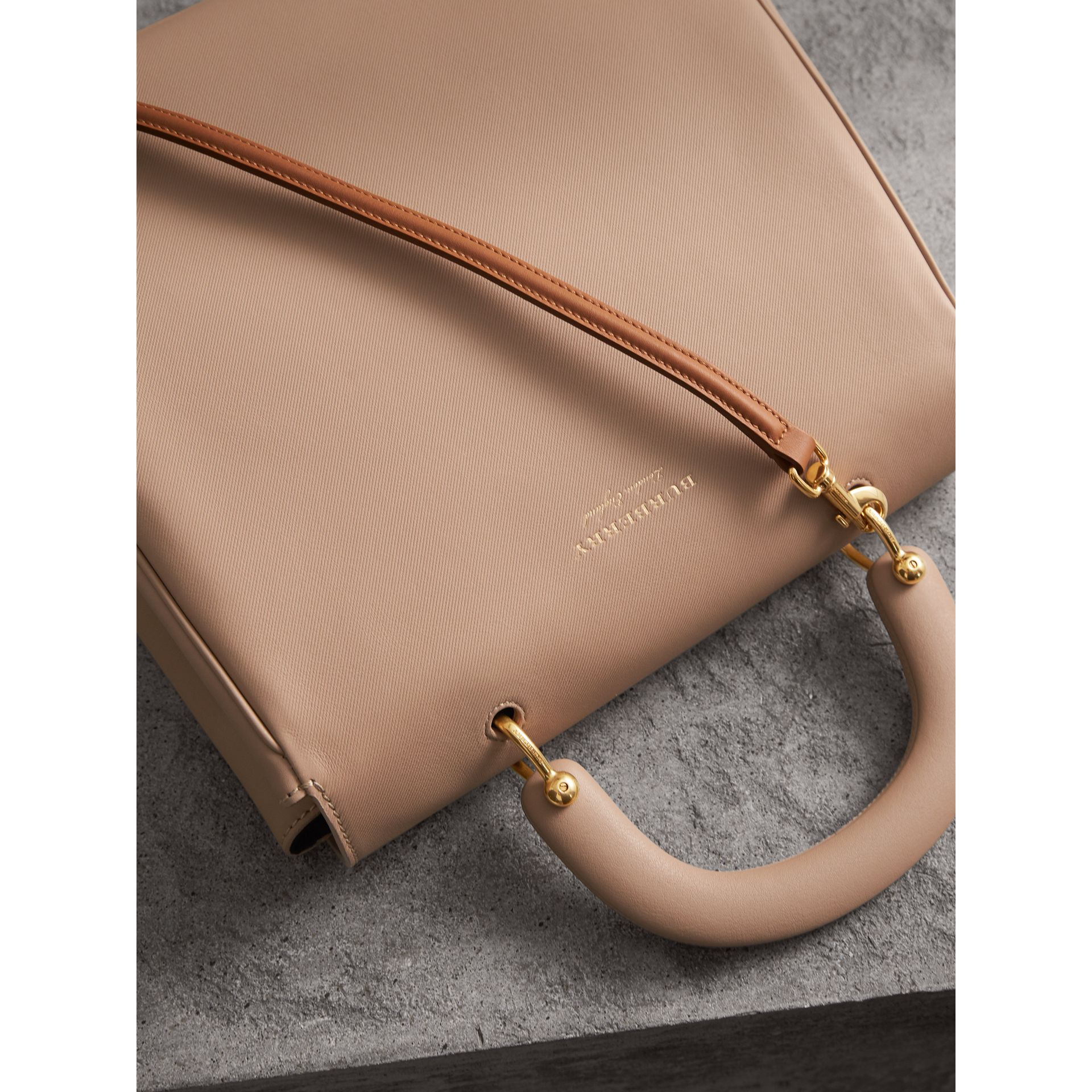 The Large DK88 Top Handle Bag in Honey - Women | Burberry - gallery image 5