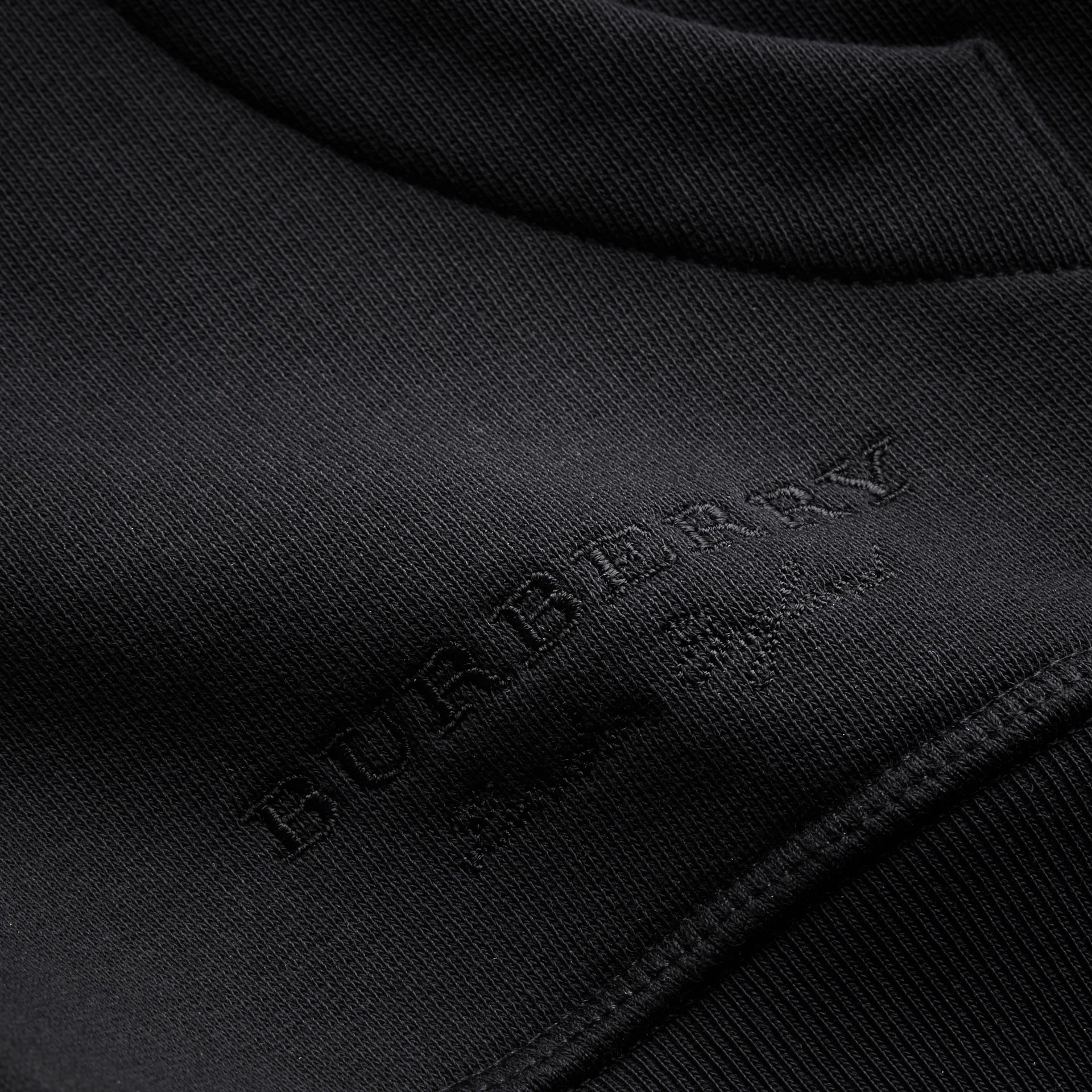 Pallas Helmet Cotton Blend Jersey Hooded Top in Black - Men | Burberry - gallery image 2