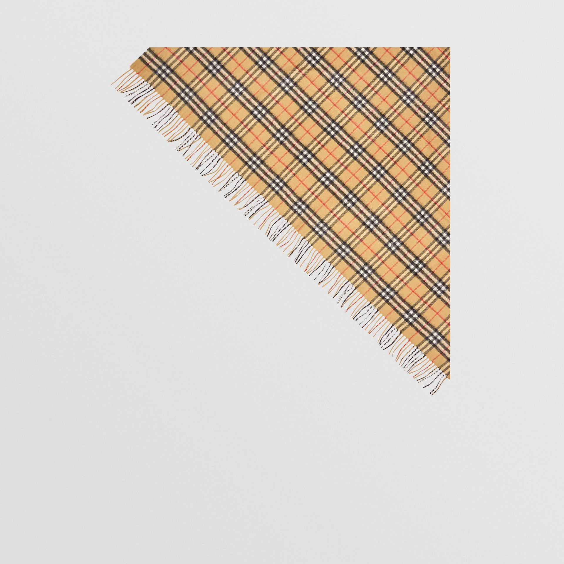 The Burberry Bandana in Vintage Check Cashmere in Antique Yellow | Burberry Australia - gallery image 6