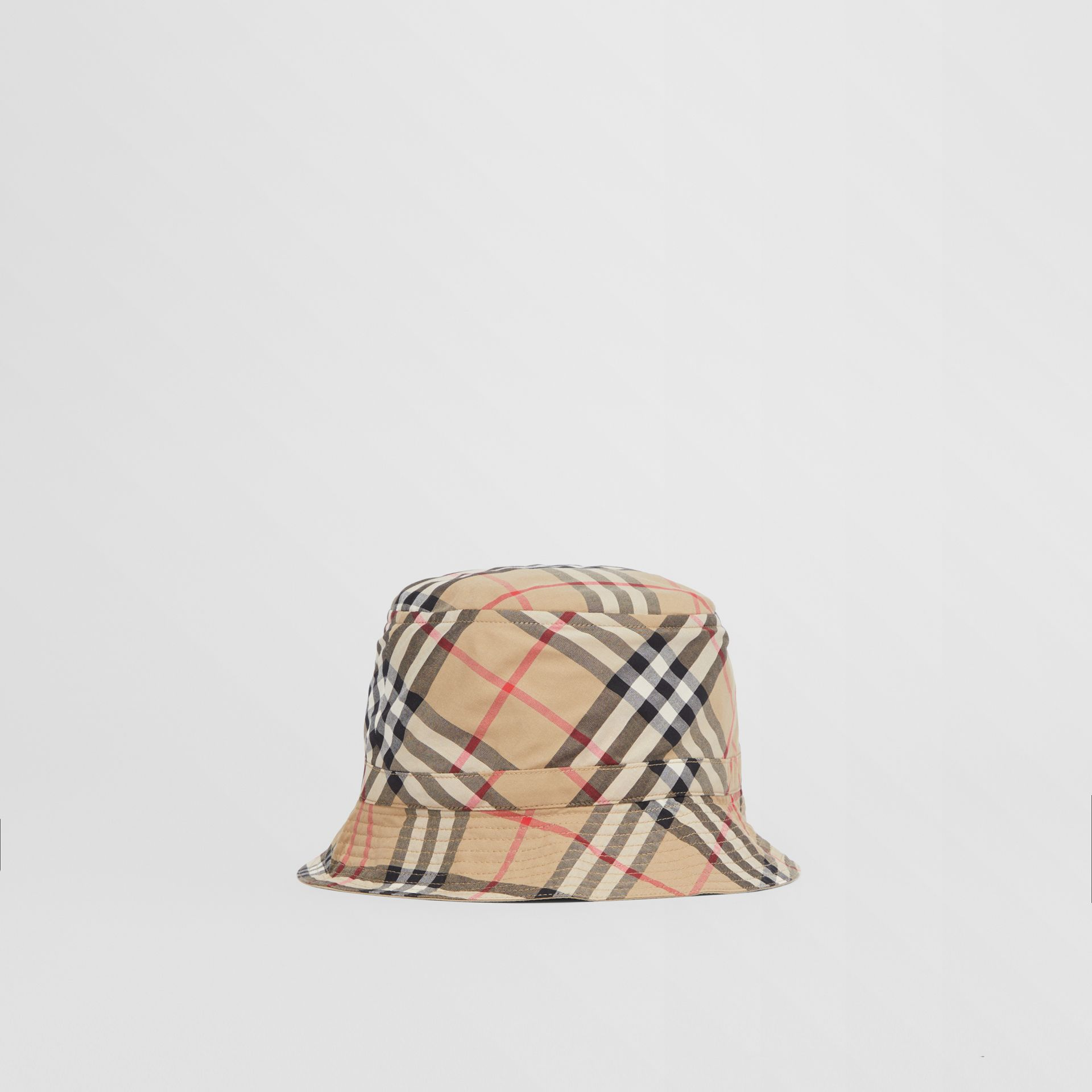 Vintage Check Cotton Bucket Hat in Archive Beige - Children | Burberry United Kingdom - gallery image 2