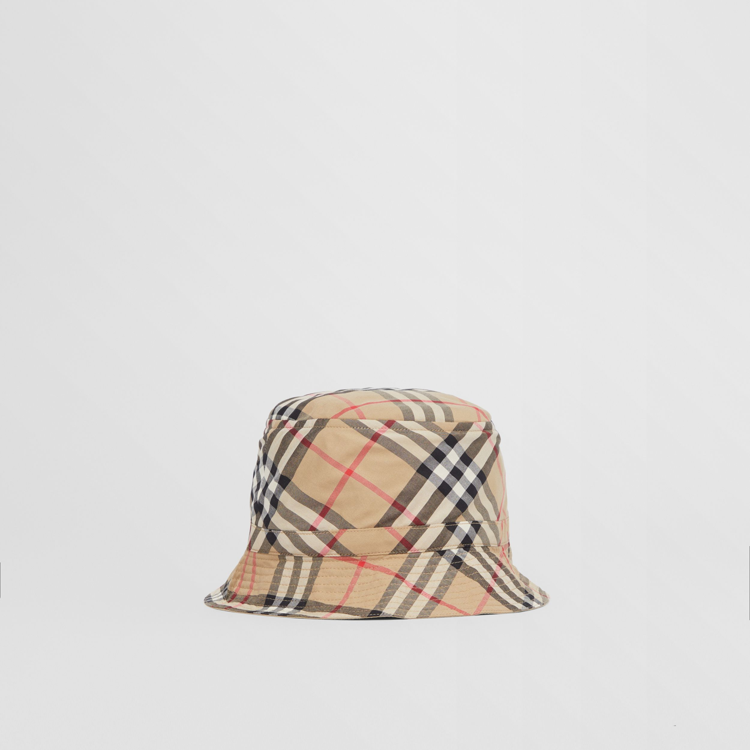 Vintage Check Cotton Bucket Hat in Archive Beige - Children | Burberry - 3