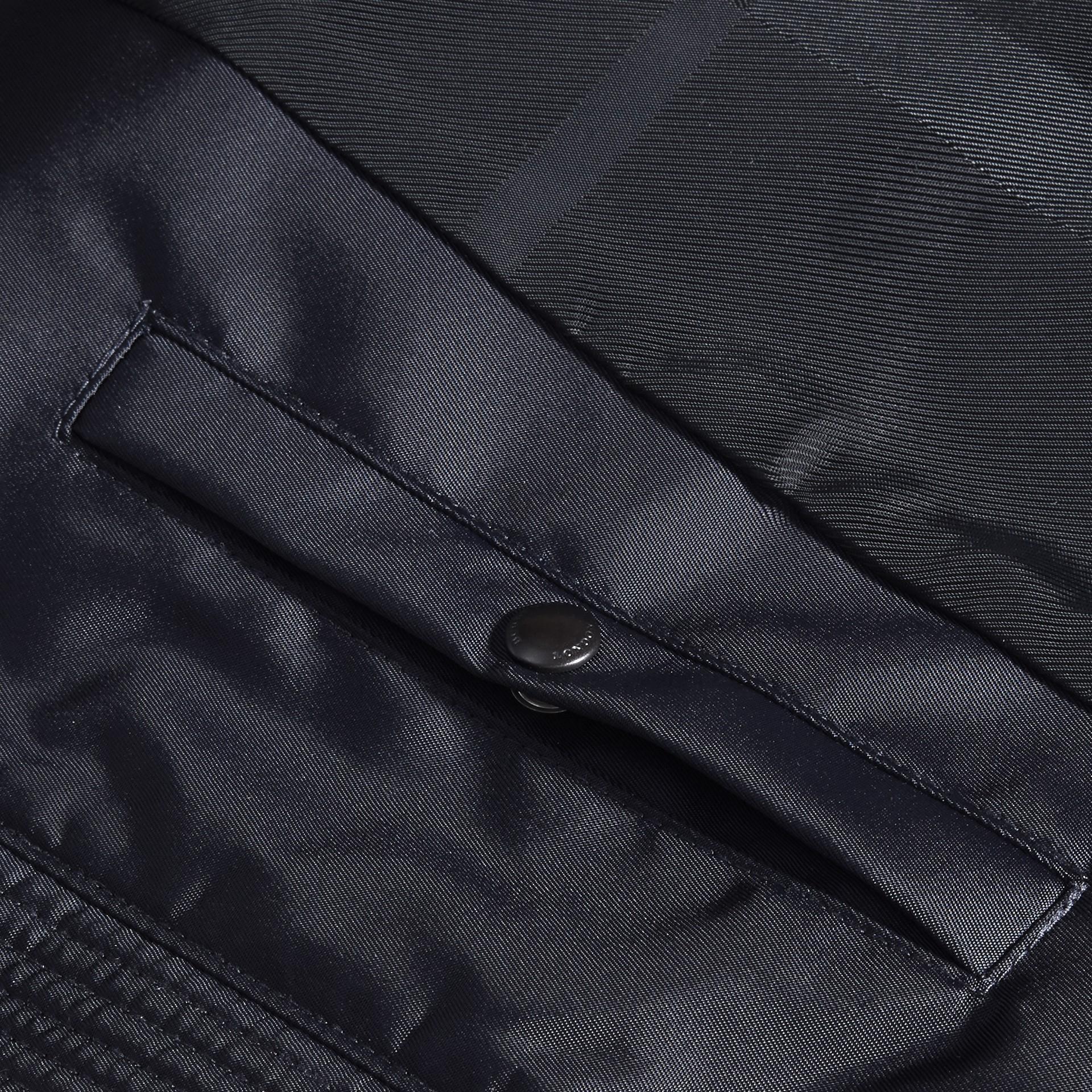 Темно-синий Куртка со складным капюшоном - изображение 2