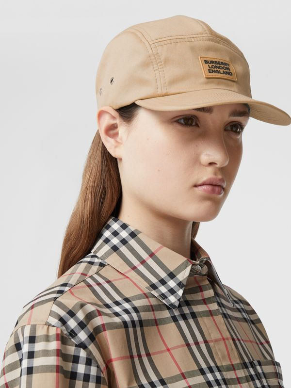 Logo Appliqué Cotton Twill Cap in Soft Fawn | Burberry - cell image 2
