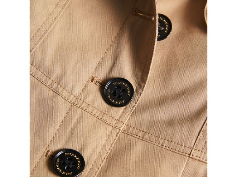 Trench coat monopetto in cotone (Miele) | Burberry - cell image 1