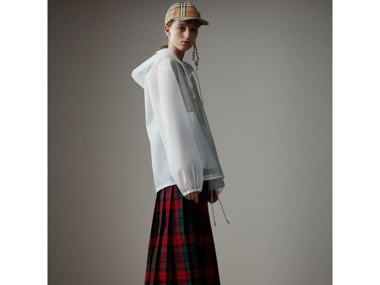 Soft-touch Plastic Cagoule in White - Women | Burberry Singapore - cell image 4