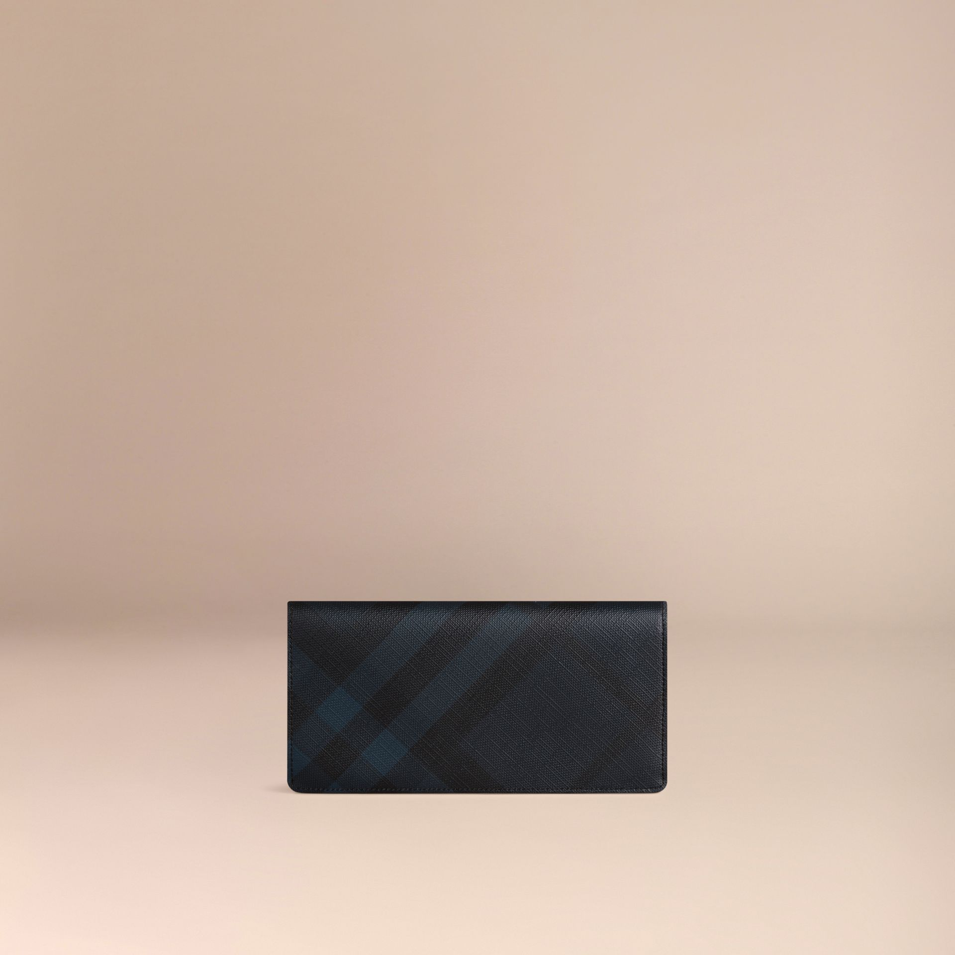 Navy/black London Check Continental Wallet Navy/black - gallery image 3