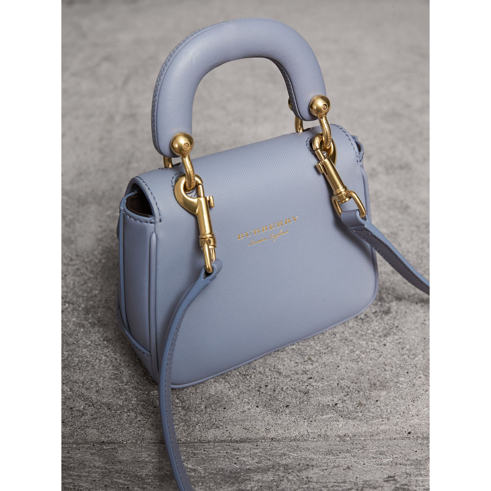 The Mini DK88 Top Handle Bag in Slate Blue - Women | Burberry - gallery image 4