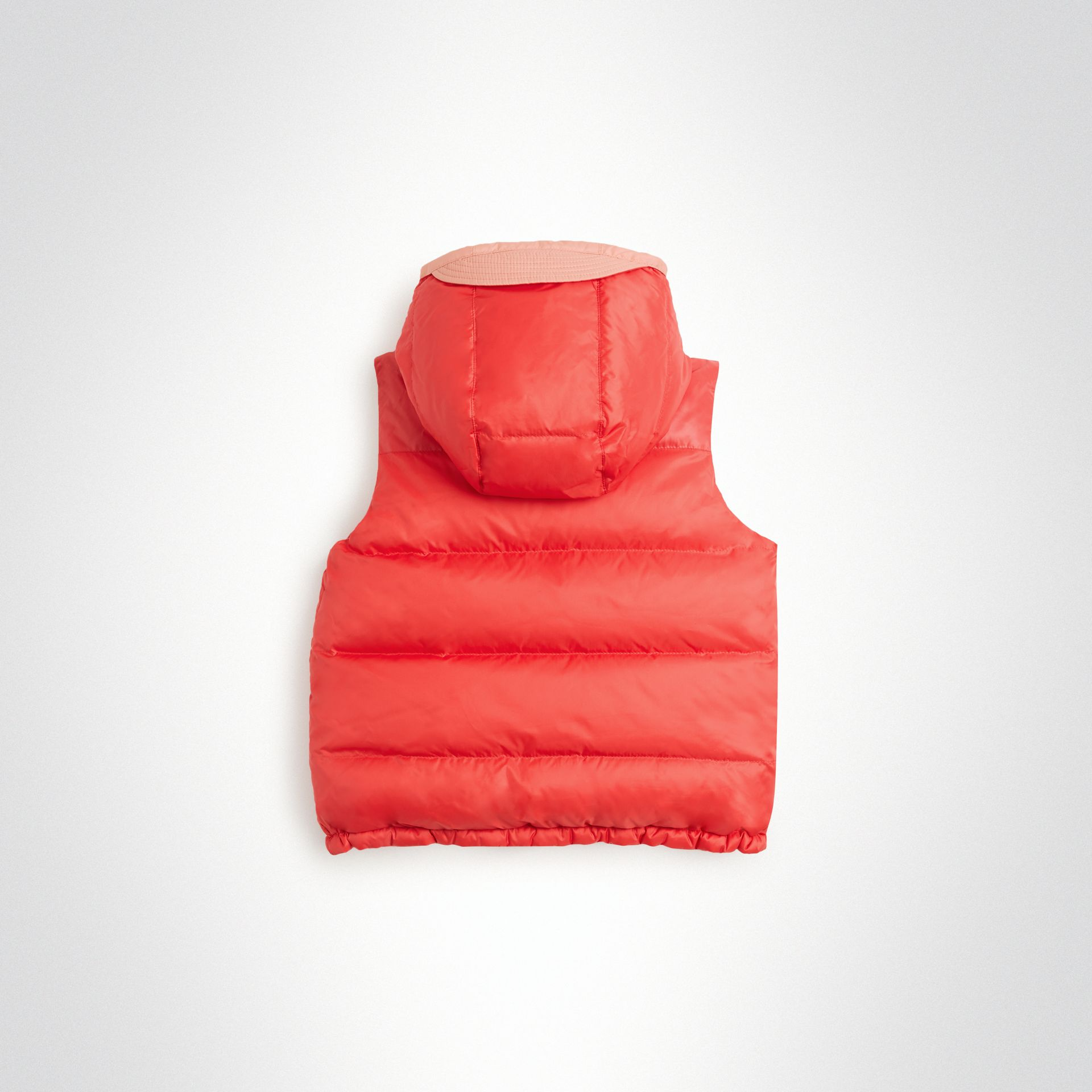 Reversible Showerproof Down-filled Hooded Gilet in Coral Pink | Burberry Canada - gallery image 4