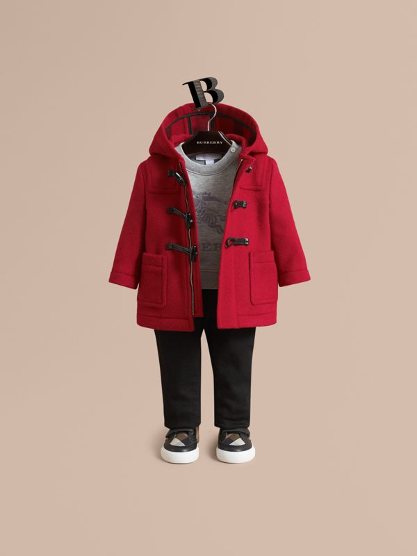 Wool Duffle Coat in Parade Red | Burberry United States - cell image 2