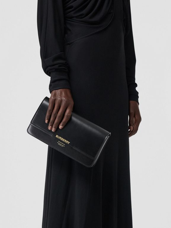 Leather Grace Clutch in Black - Women | Burberry - cell image 1