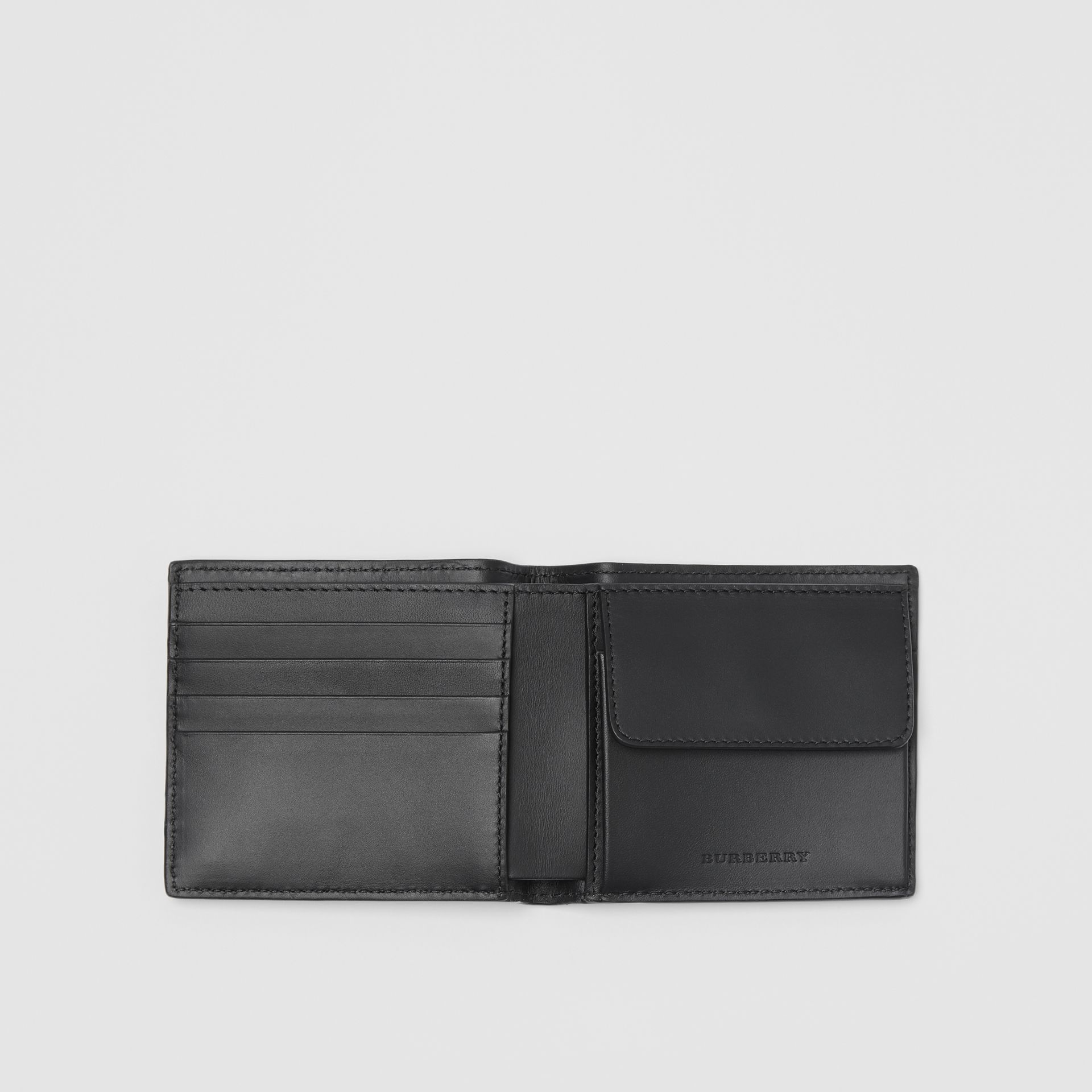 London Leather International Bifold Coin Wallet in Black - Men | Burberry Hong Kong - gallery image 3
