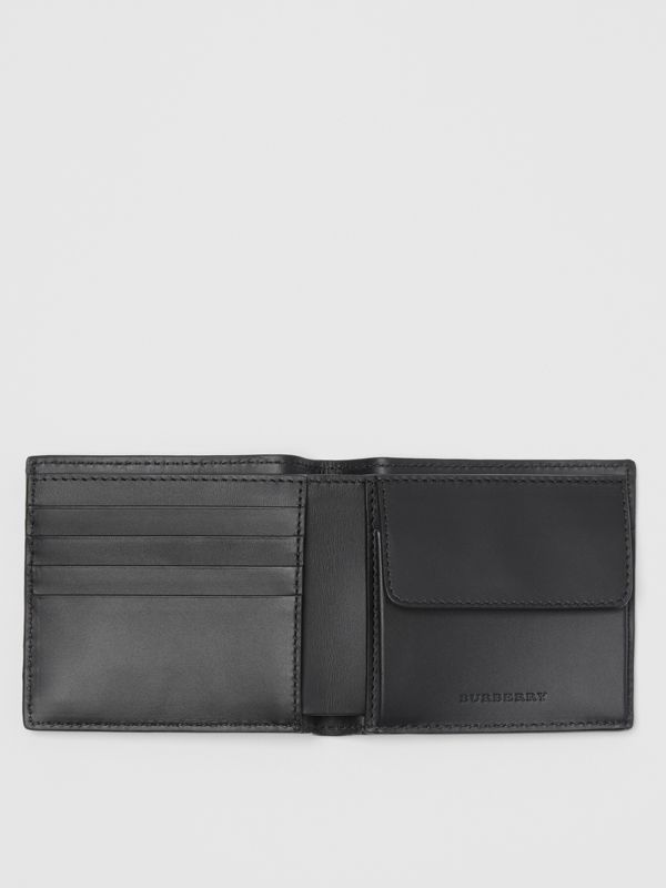 London Leather International Bifold Coin Wallet in Black - Men | Burberry Hong Kong - cell image 3