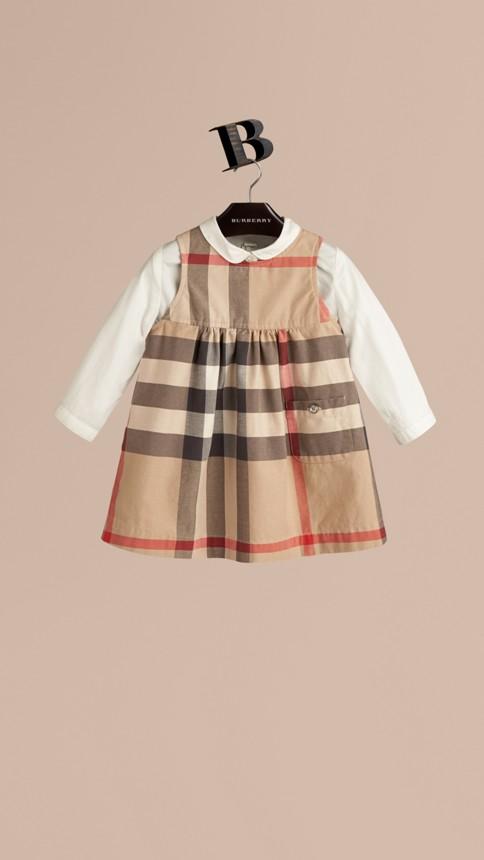 Classique nouveau Robe en coton check - Image 1