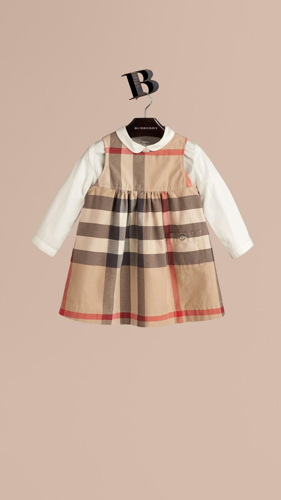 New classic Check Cotton Dress - Image 1