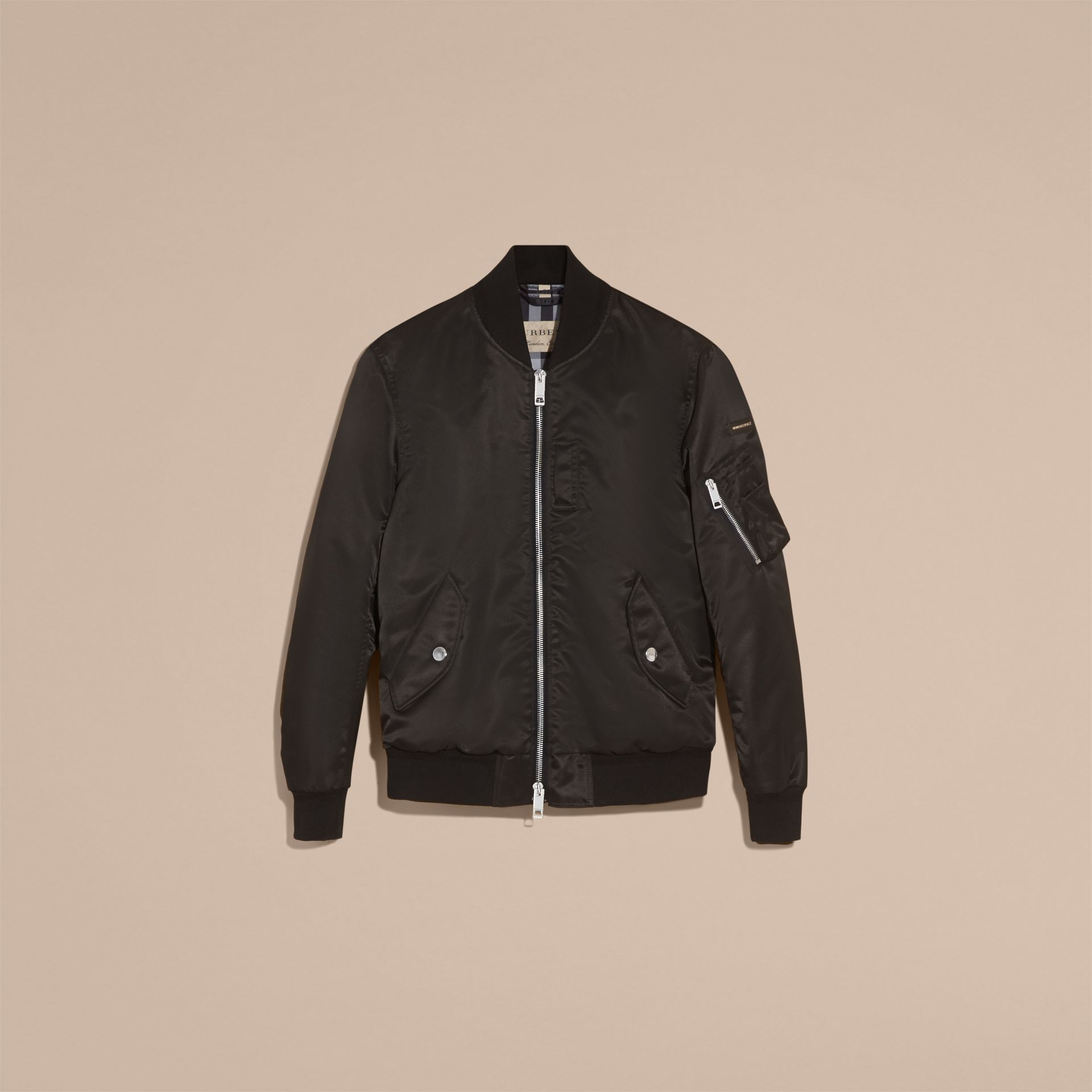 Technical Bomber Jacket Black - gallery image 4