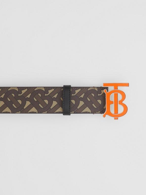 Monogram E-canvas Belt in Bridle Brown - Men | Burberry United Kingdom - cell image 1