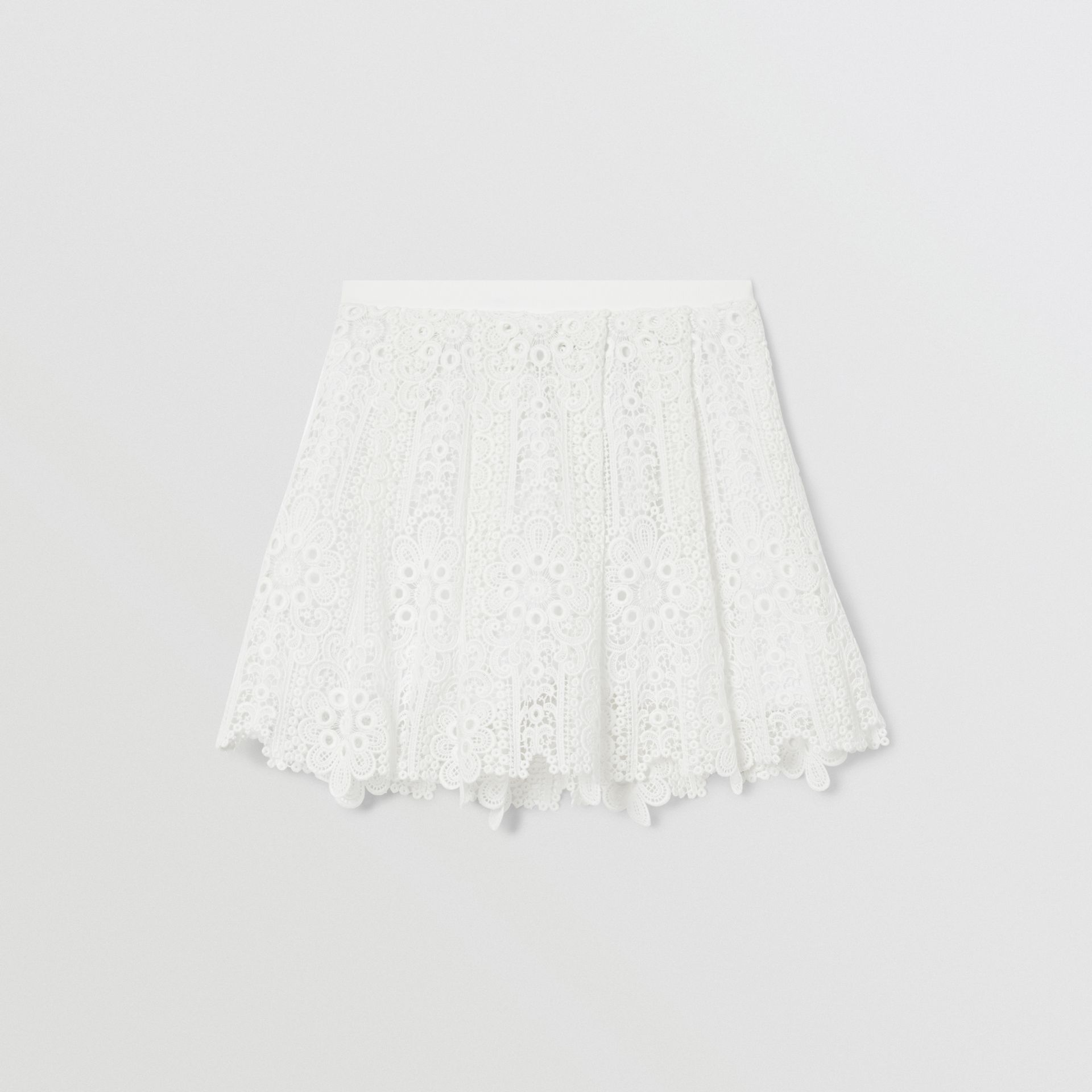 プリーツ マクラメレース スカート (ホワイト) | バーバリー - ギャラリーイメージ 3