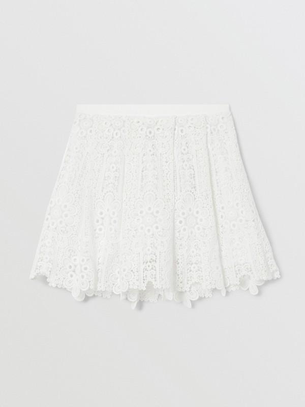 プリーツ マクラメレース スカート (ホワイト) | バーバリー - cell image 3