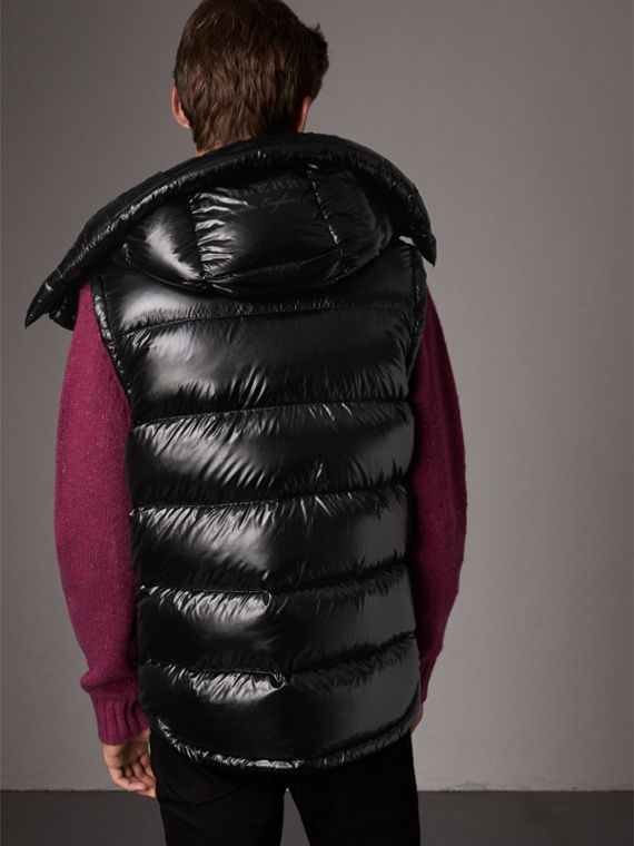 Detachable Hood Down-filled Gilet in Black - Men | Burberry Canada - cell image 2