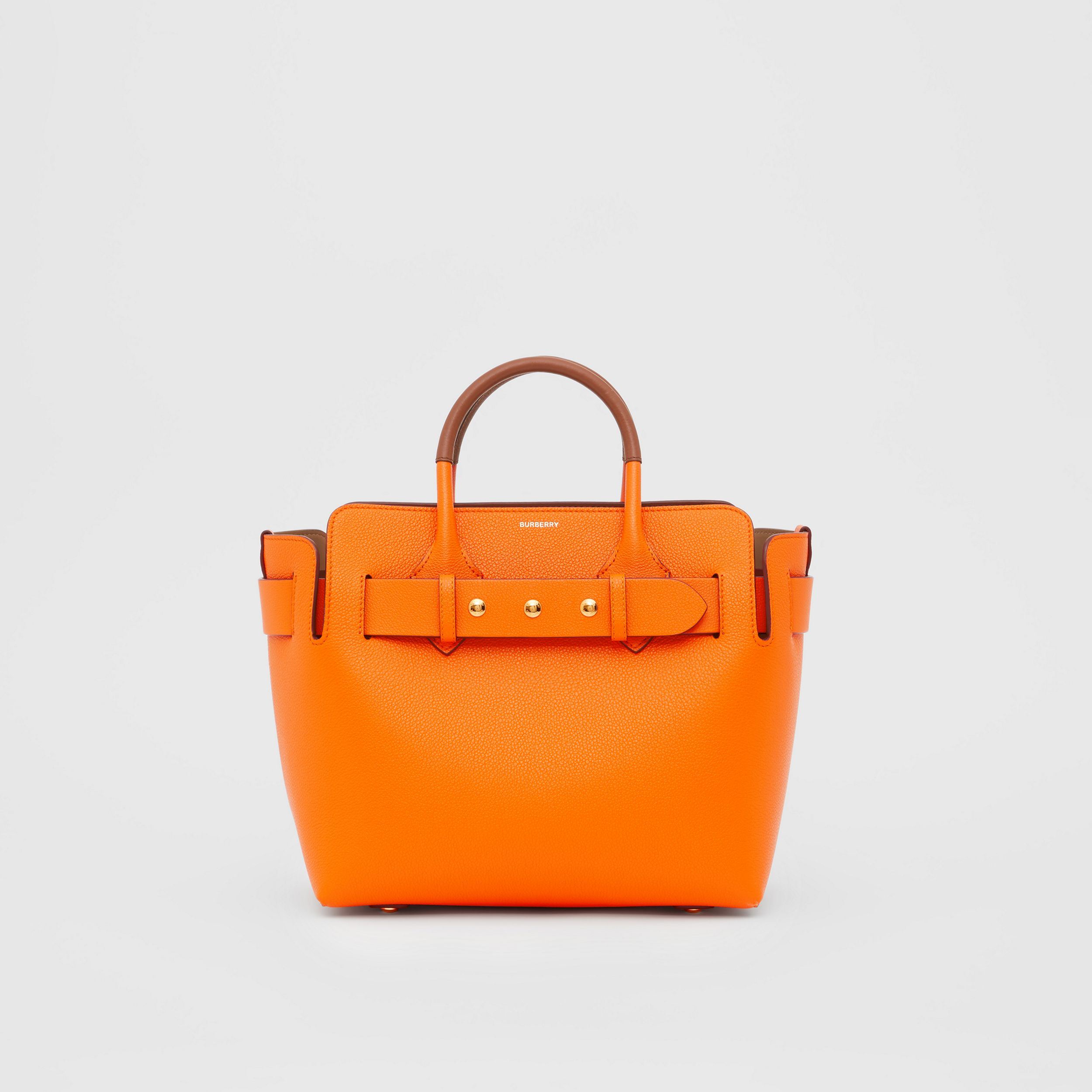 The Small Leather Triple Stud Belt Bag in Bright Orange - Women | Burberry - 1