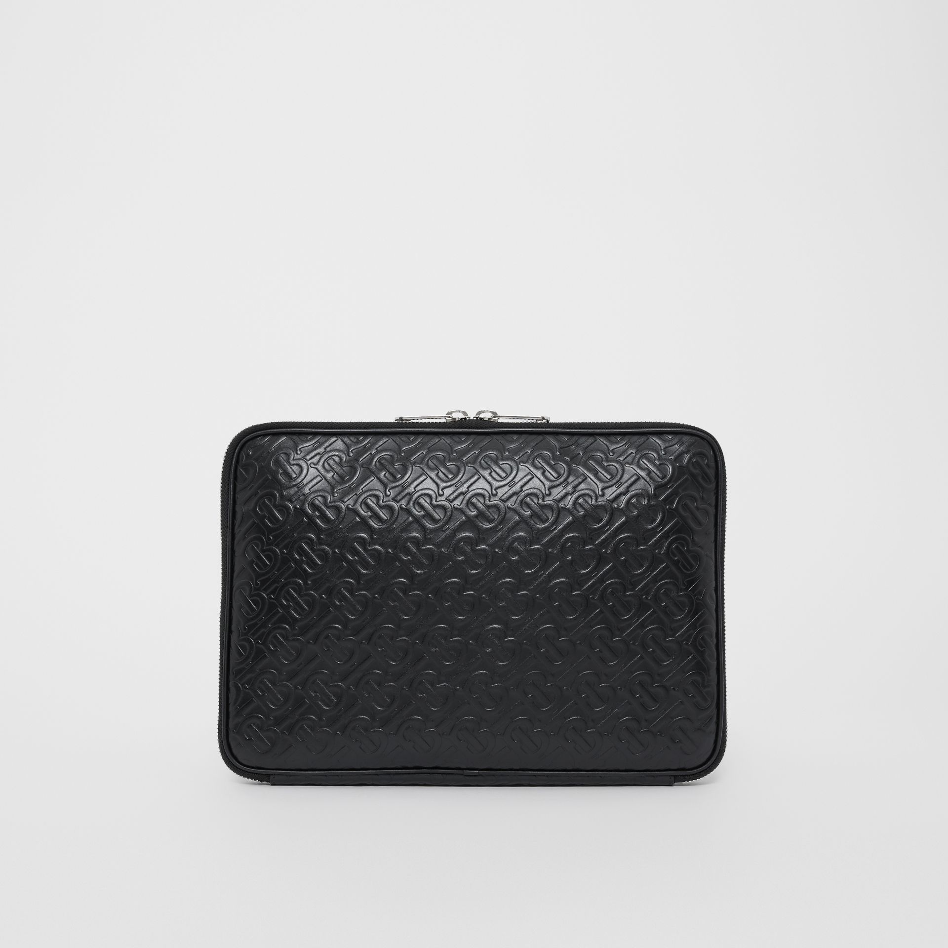 Monogram Leather Digital Case in Black - Men | Burberry - gallery image 5