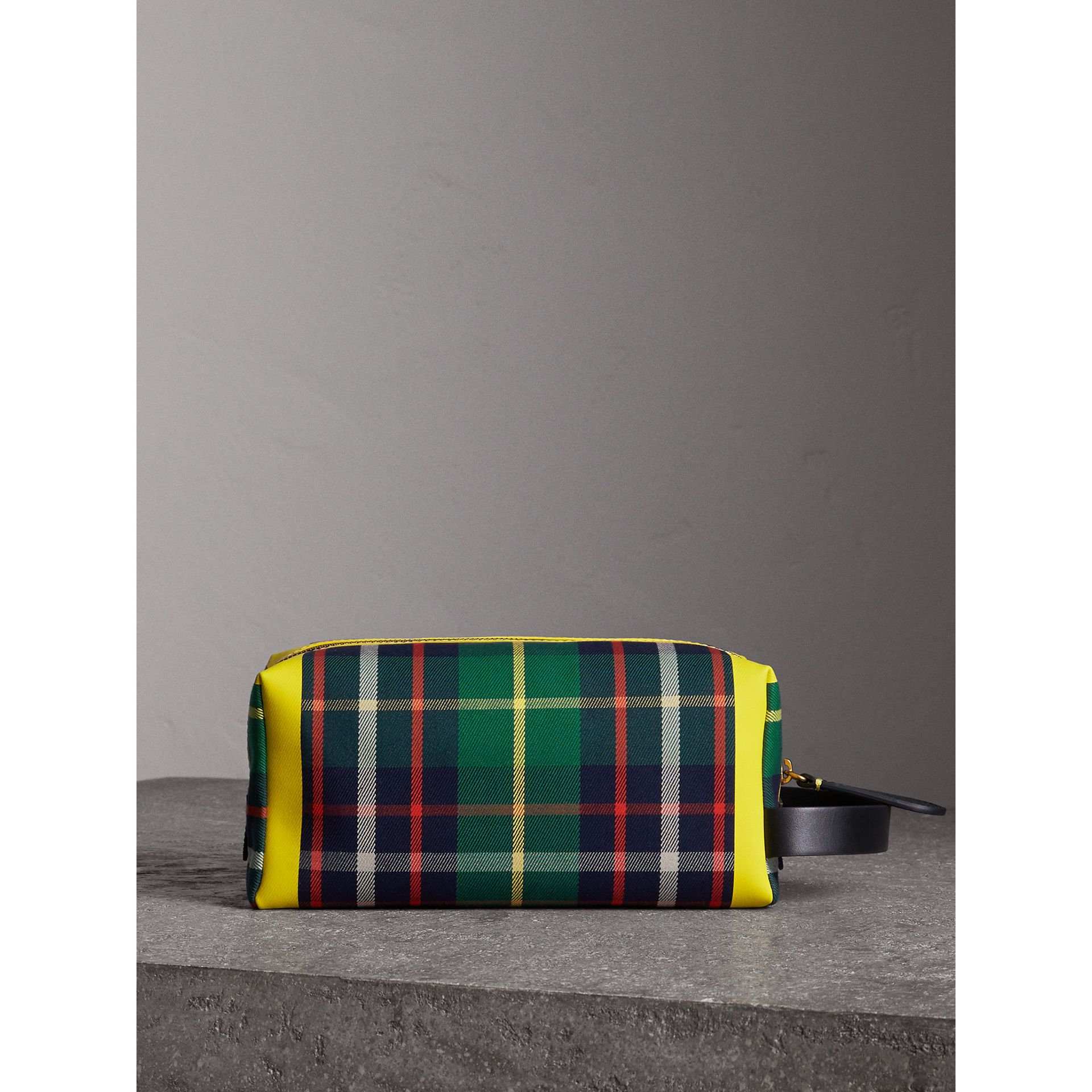 Tartan Cotton Pouch in Forest Green | Burberry - gallery image 7