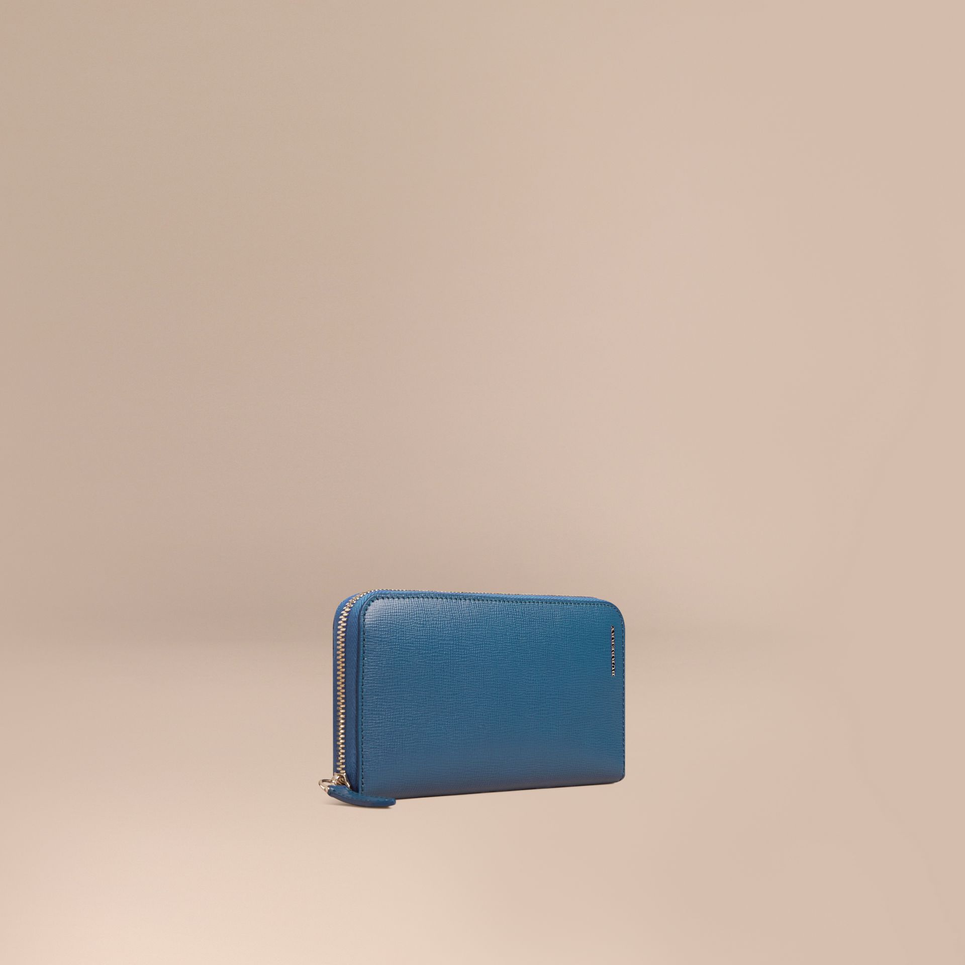 London Leather Ziparound Wallet Mineral Blue - gallery image 1