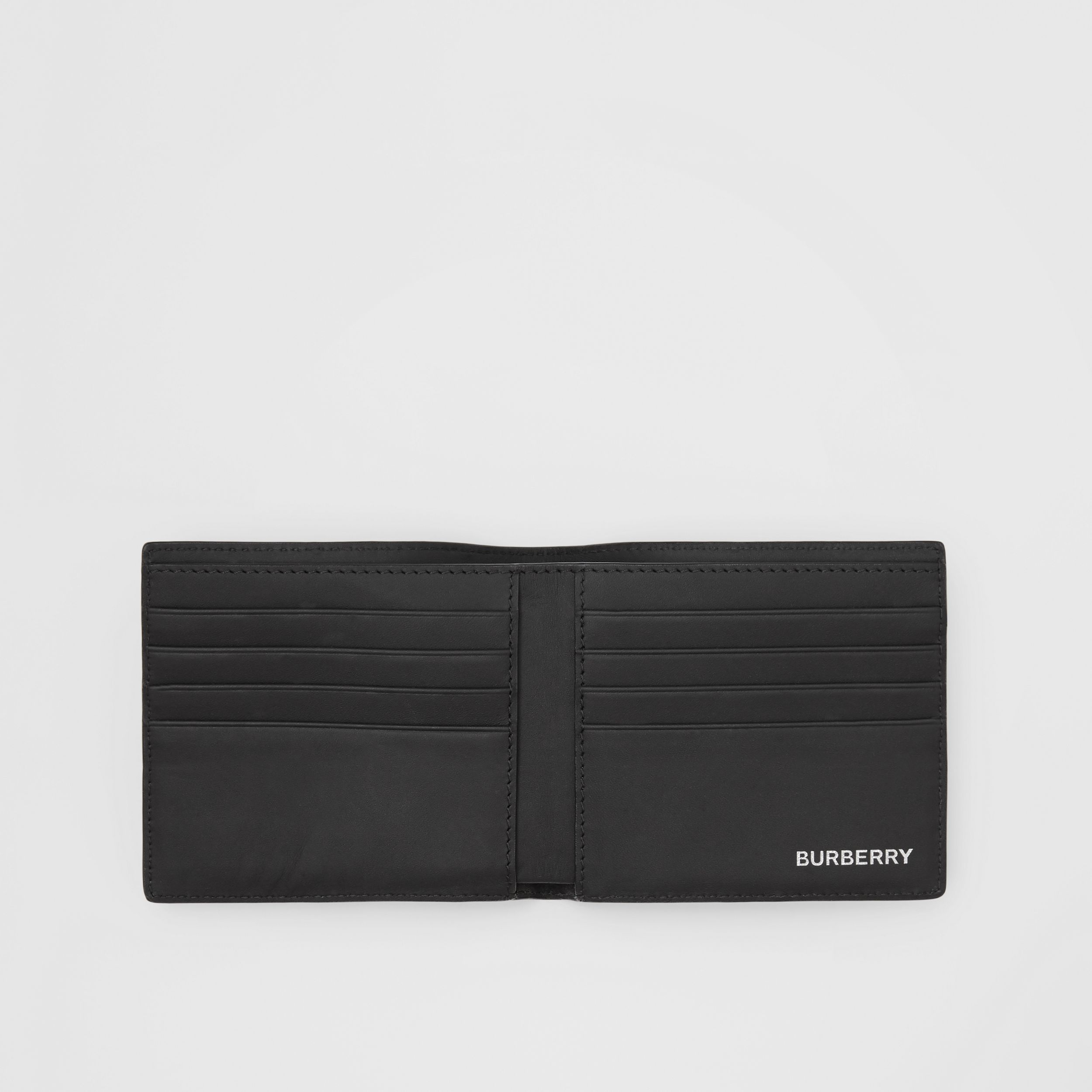 Logo Graphic London Check International Bifold Wallet in Dark Charcoal - Men | Burberry - 3