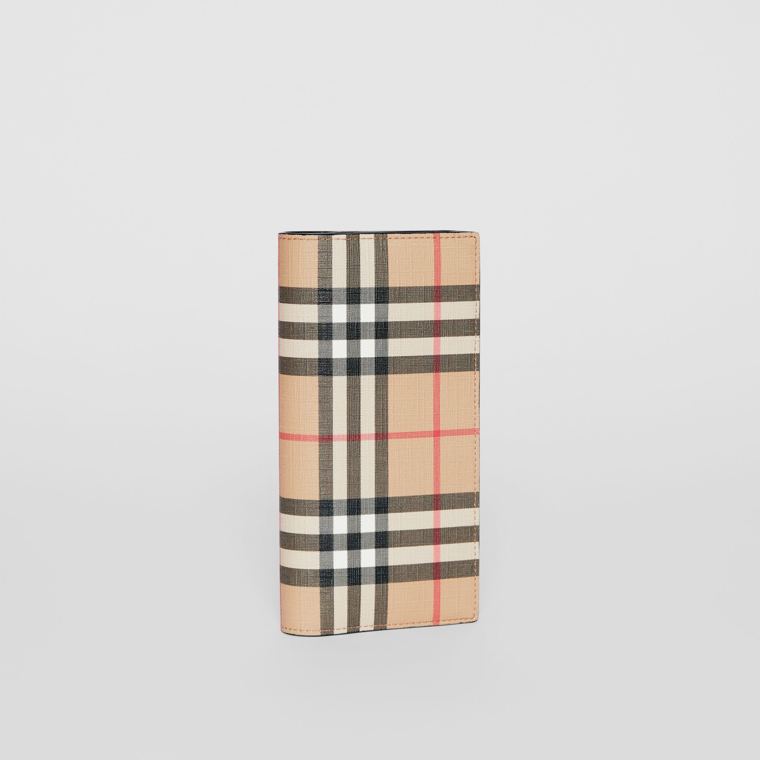 Vintage Check E-canvas Continental Wallet in Archive Beige - Men | Burberry - 4