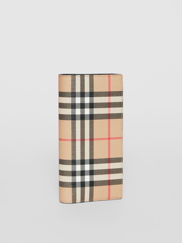 Vintage Check E-canvas Continental Wallet in Archive Beige - Men | Burberry United States - cell image 3