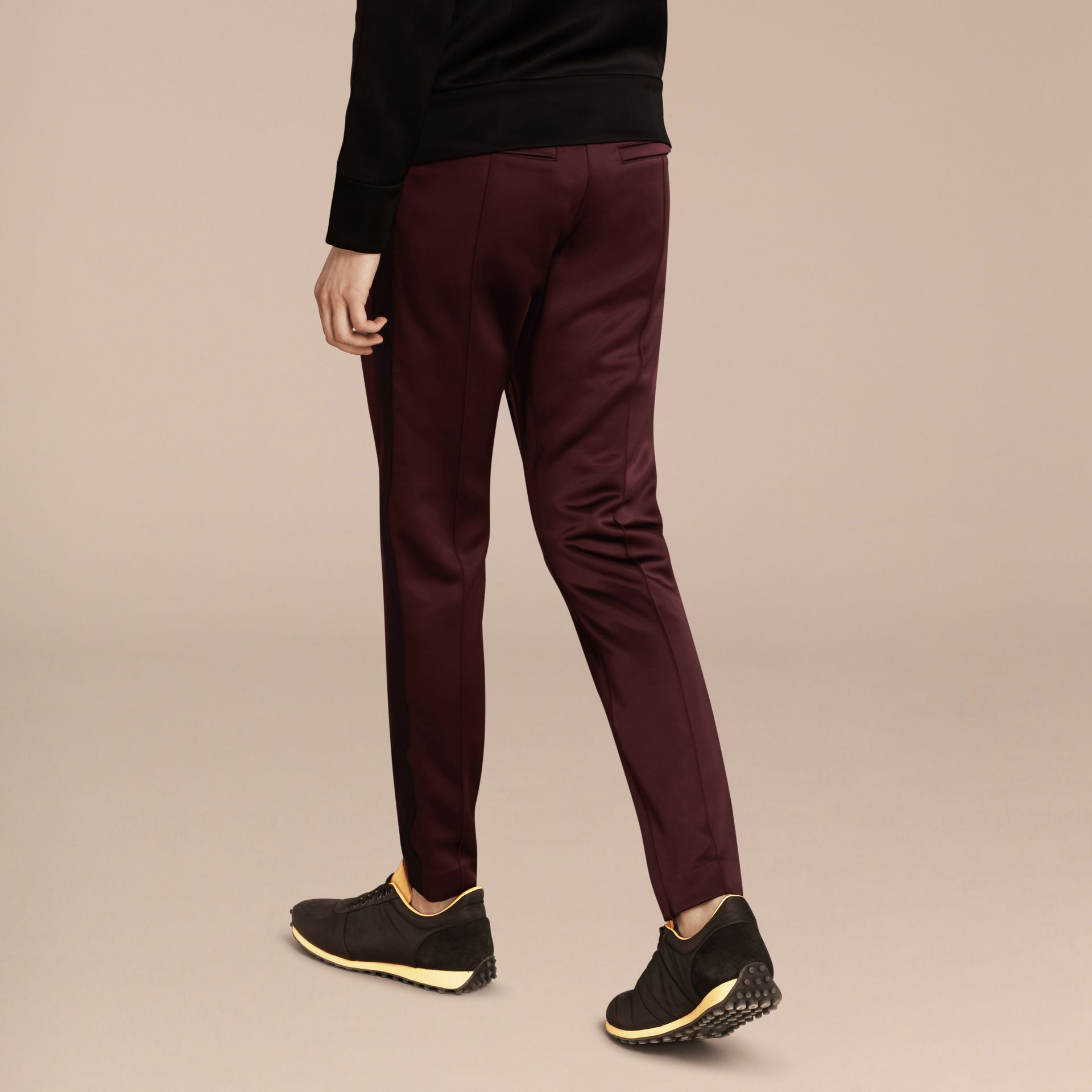 Maroon purple High-shine Track Pants Maroon Purple - gallery image 3