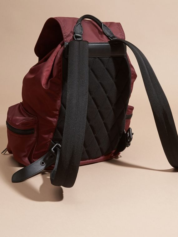 The Large Rucksack in Technical Nylon and Leather - cell image 3