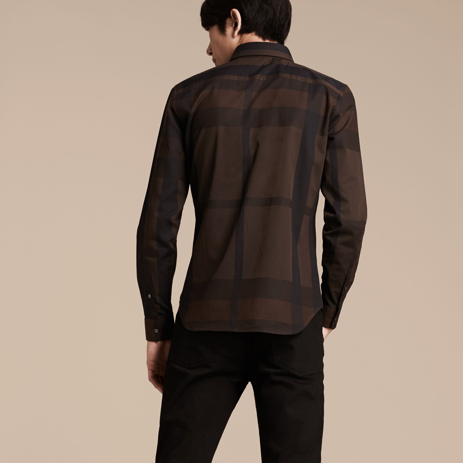 Chocolate check Check Cotton Shirt Chocolate - gallery image 2