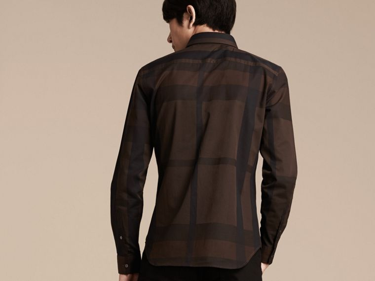 Chocolate check Check Cotton Shirt Chocolate - cell image 1