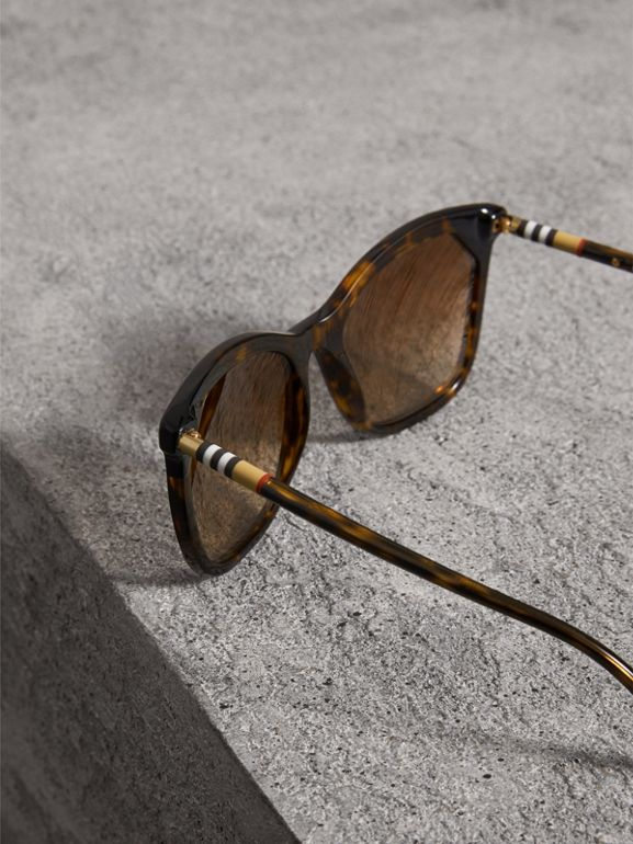 Tortoiseshell Square Frame Sunglasses in Brown - Women | Burberry - cell image 1