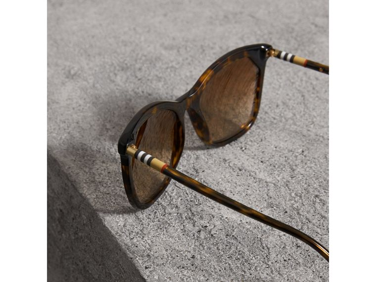Tortoiseshell Square Frame Sunglasses in Brown - Women | Burberry Australia - cell image 1