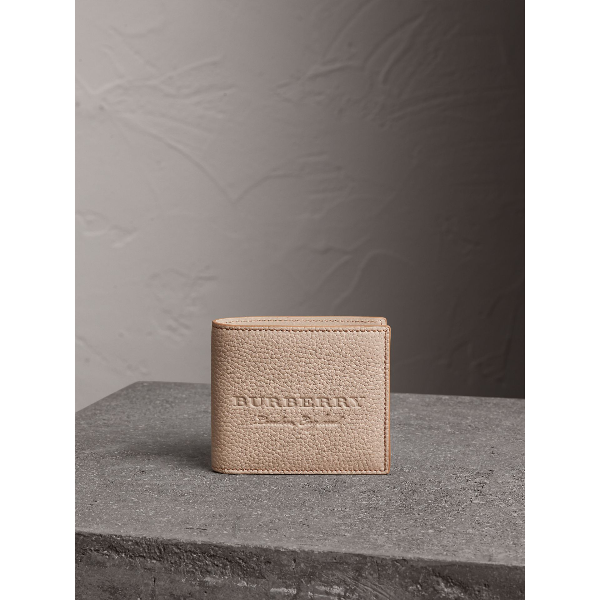 Embossed Leather Bifold Wallet in Chino - Men | Burberry - gallery image 5