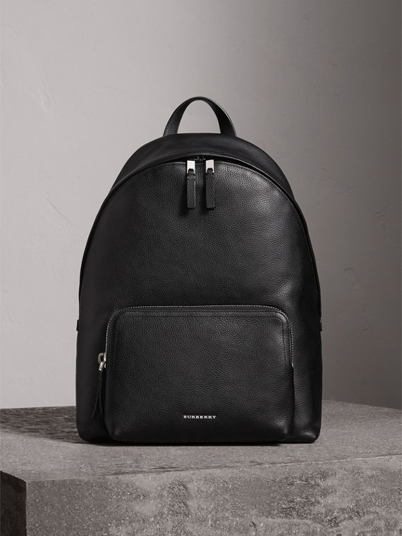Grainy Leather Backpack - Men | Burberry