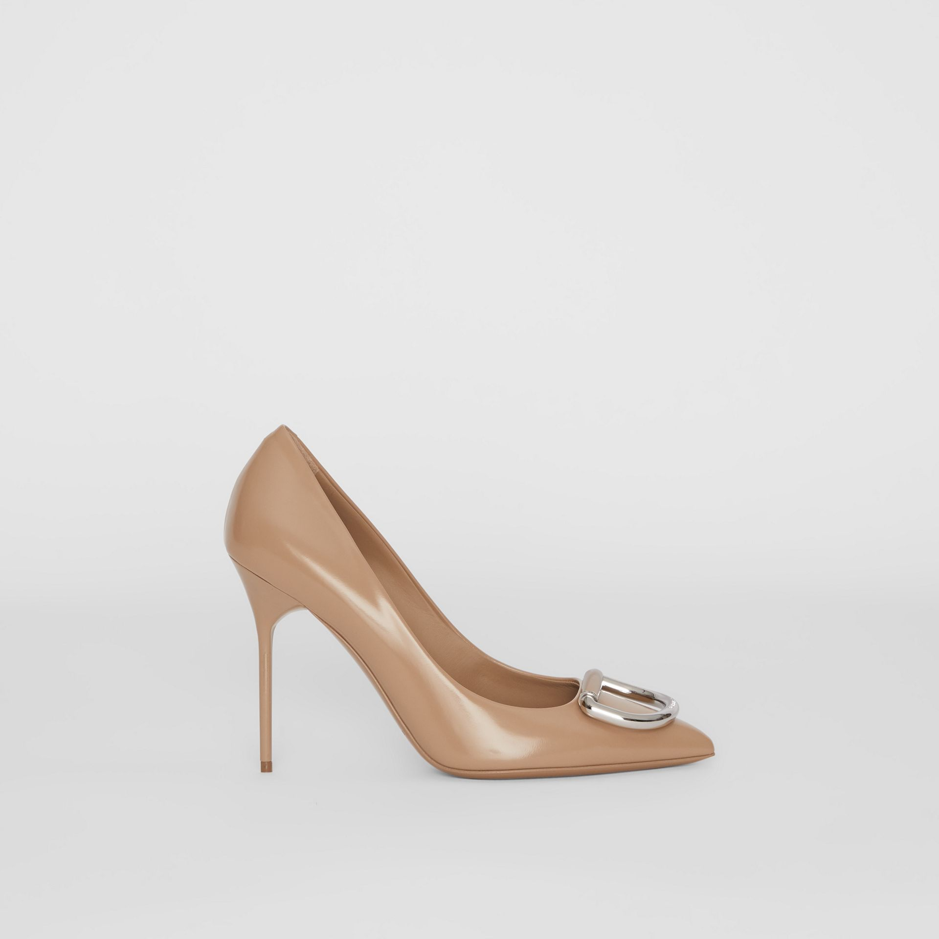 The Leather D-ring Stiletto in Nude Blush - Women | Burberry - gallery image 5