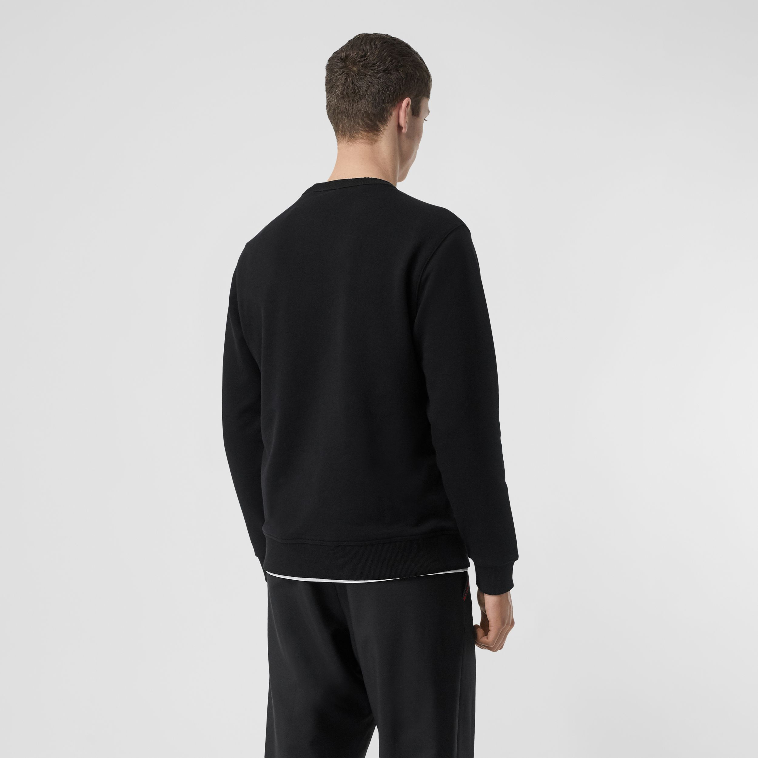 Sweat-shirt en coton Horseferry (Noir) - Homme | Burberry - 3
