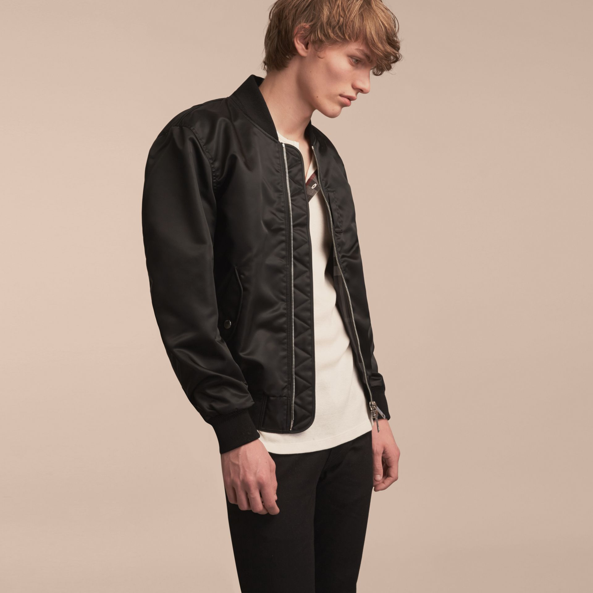 Technical Bomber Jacket Black - gallery image 7