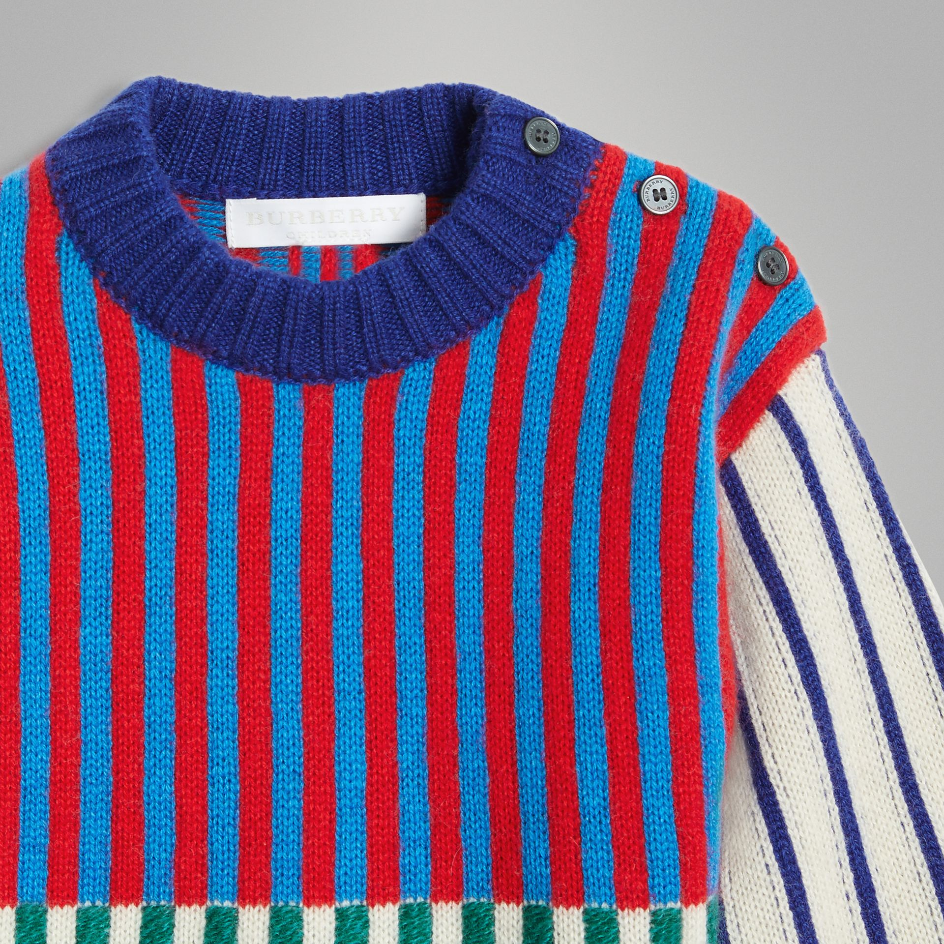 Graphic Cashmere Jacquard Sweater in Multicolour - Children | Burberry - gallery image 4